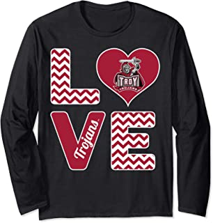 Troy Trojans Stacked Love Long Sleeve T-Shirt - Apparel