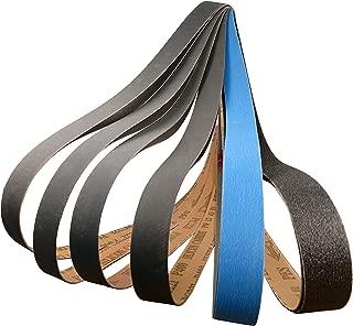 1 X 42 Premium Knife Sharpening Sanding Belts Assortment 80, 220, 400, 600, 800, 1000 Grit High Performance Silicon Carbide & Ceramic Belt Sander Belts (12)