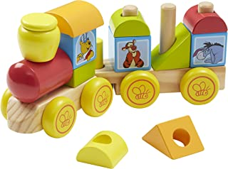 Melissa & Doug Disney Baby Winnie the Pooh Wooden Stacking Train (14 pcs)
