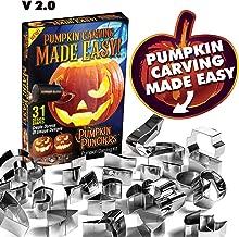 Pumpkin Punchers - Pumpkin Carving Kit For Kids - Pumpkin Carving Tools - Pumpkin Carving Stencils - Pumpkin Carving Kit Stencils - Pumpkin Carver Kit - Safe Pumpkin Tools - 2.0 Version (31 Pieces)