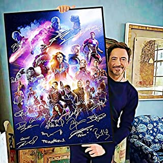 346831247 #Avengers Movie 4 Endgame #Signature #Infinity Gauntlet Actors Signed Poster Home Art Wall Art Posters Prints Livingroom Kitchen-Room No Frame (24x36)