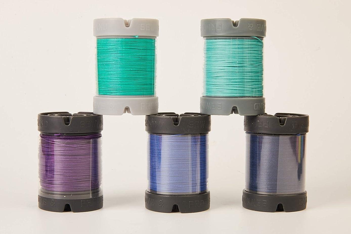Since Leather Linen Thread for leathercraft M30/0.35MM/150M/Spool (Light Cyan, M30/150M/Spool)
