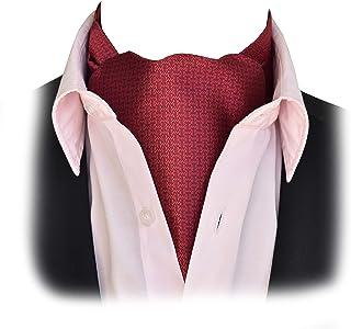 Cravates/noeuds pap/foulards Homme Bleu Marine Bleu & Blanc Pin Dot coton Ascot CRAVAT & Poche Carré-Made in UK