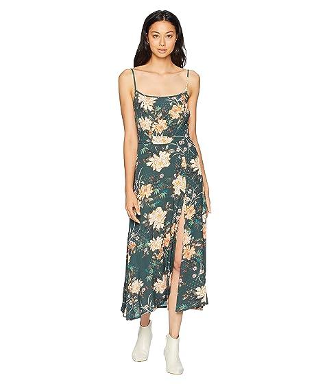 FLYNN SKYE Hazel Midi Dress, Abstract Emerald