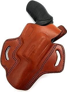 HOLSTERMART USA TAGUA Brown Leather Right Hand Thumb Break OWB Belt Holster for Taurus Judge Public Defender 4510, 2.5