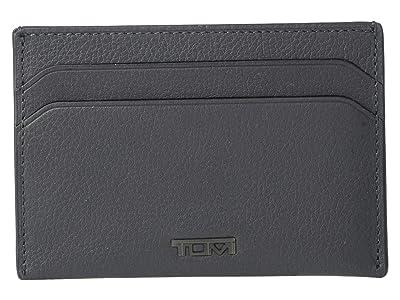 Tumi Nassau Money Clip Card Case (Grey Textured) Wallet