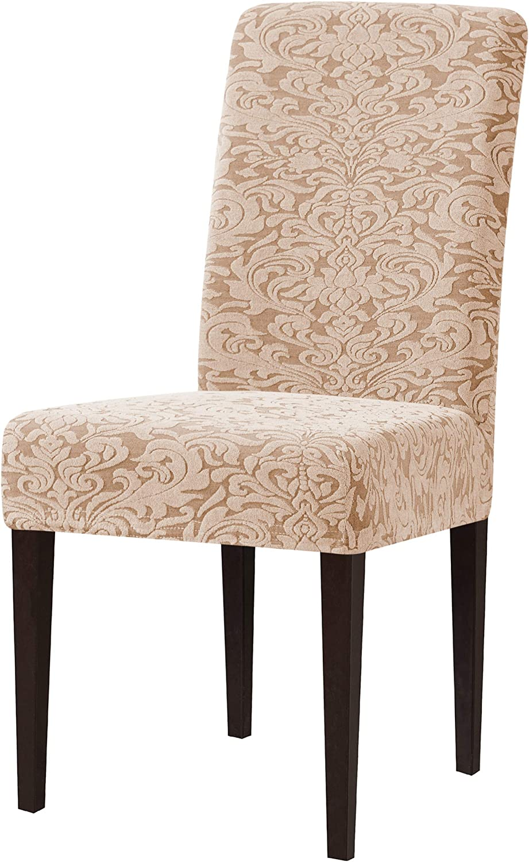 subrtex Dining Chair Slipcovers Dedication Damask Tampa Mall C Jacquard Washable