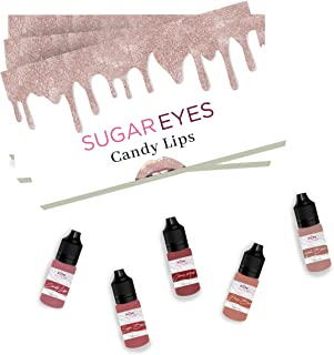 Best Microblading Ink for Permanent Makeup Lips, Works with Permanent Makeup Machine and Hand Method, Pigment Color Micro...