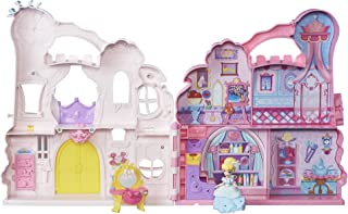Disney Princess Little Kingdom Play 'n Carry Castle - Triple Functions as Magical Playset, Carrier, and Storage - Includes Carrying Case, Cinderella Doll, and Accessories