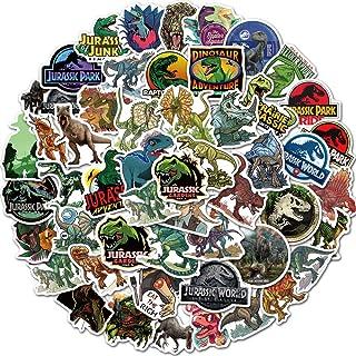 Jurassic Dinosaur Stickers of 50 Vinyl Decal Merchandise Laptop Stickers for Laptops, Computers, Hydro Flasks, Skateboard ...