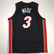 Unsigned Dwyane Wade Miami Black Custom Stitched Basketball Jersey Size Men's XL New No Brands/Logos