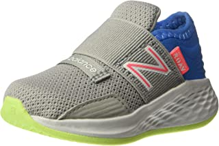 New Balance Kids' Roav V1 Fresh Foam Bungee Running Shoe, RAIN Cloud/Light Cobalt, 8 M US Toddler