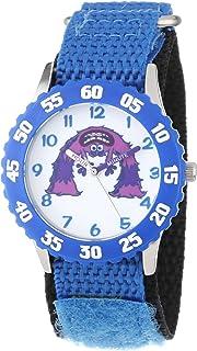 Disney Kids' W000888 Art Stainless Steel Time Teacher Blue Bezel Blue Nylon Strap Watch