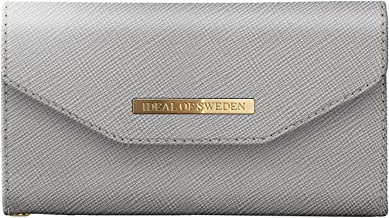 iDeal Of Sweden Mayfair Clutch Wallet in Light Grey Design for iPhone 8/7/6/6s - Detachable Strap & Magnetic Phone Case w/Card Slots