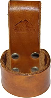 Wisemen Trading Axe Belt Loops or Holster, Veg Tan Top Grade Leather