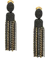 Oscar de la Renta - Crystal Tassel Clip Earrings