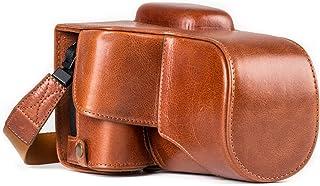 MegaGear Estuche Ever Ready Funda de Pronto Uso de Cuero auténtico con Correa Compatible con Canon EOS 800D 77D 9000D (18-55mm)