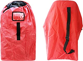 Car Seat Travel Bag, Airport Gate Check Bag with Easy-to-Carry Backpack Style Shoulder Straps Check Your car seat in Flight, 210d red