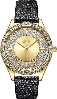 JBW Luxury Women's Mondrian 12 Diamonds 10YR Anniversary Leather Watch