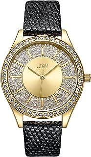 JBW Women's 10-Year Anniversary Mondrian 0.12 ctw Diamond Wrist Watch with Leather Bracelet