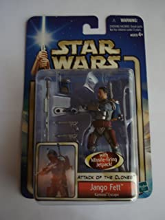 STAR WARS ATTACK OF THE CLONES JANGO FETT KAMINO ESCAPE 1st CARD
