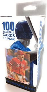 100 Baseball Cards 1 Pack Jumbo Box