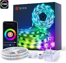 10M Luces de Tiras LED WiFi, TECKIN Tiras LED RGB 5050 12V con 300 LEDs, Compatible con Alexa, Google Home, App, Control Remoto de 24 Teclas para Decoración de Casa, Jardín, Fiesta, etc