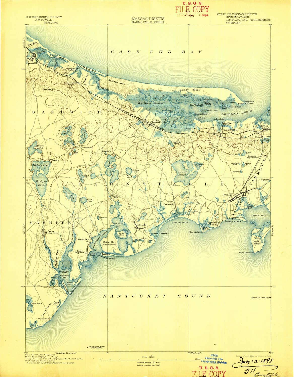 YellowMaps Barnstable MA topo map Be super welcome 1:62500 15 Sale Scale Minute X