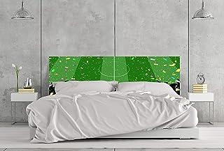 Cabecero Cama Infantil PVC Impresión Digital sin Relieve Campo de Futbol 100 x 60 cm | Disponible en Varias Medidas | Cabecero Ligero, Elegante, Resistente y Económico