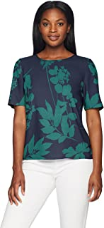 Lark & Ro Amazon Brand Women's Short Sleeve Woven