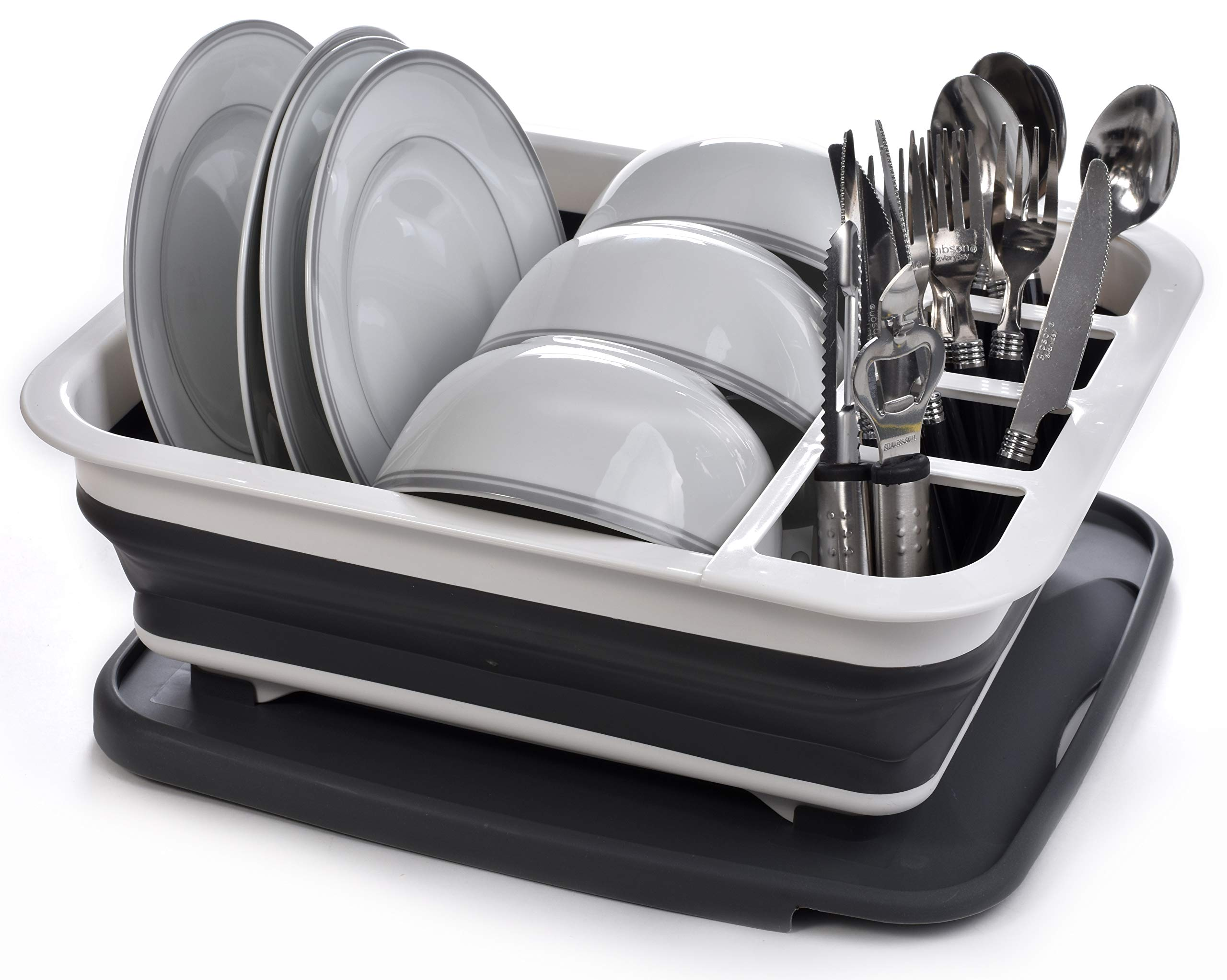 Collapsible Dish Drying Rack Compartment