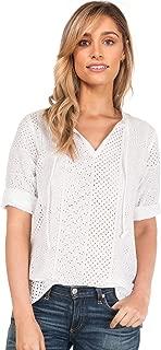 CAMIXA Women's Boho Soft Oversized Peasant Chic Shirt Look Romantic