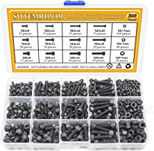 Sutemribor M3 M4 M5 Alloy Steel Socket Cap Screws Hex Head Bolt Nuts Assortment Kit (560 PCS)