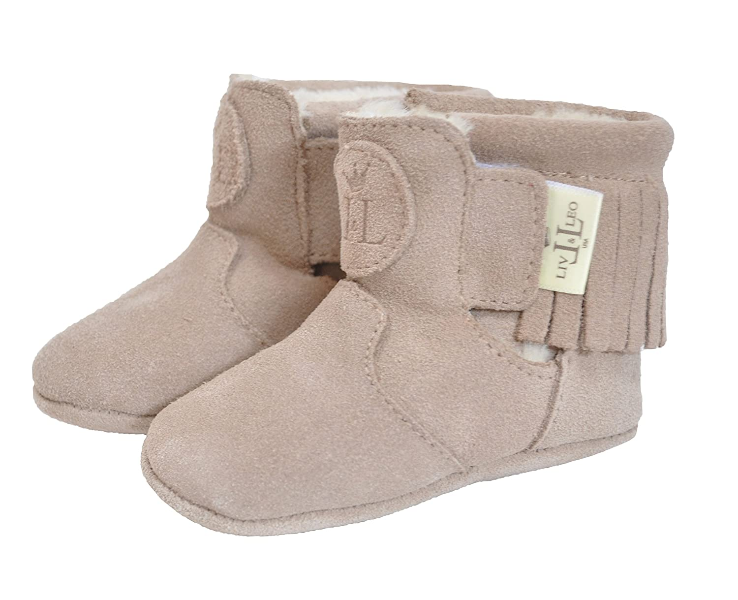 Heart Collection Liv /& Leo Baby Girls Moccasins Soft Sole Crib Shoes Slip-on 100/% Leather