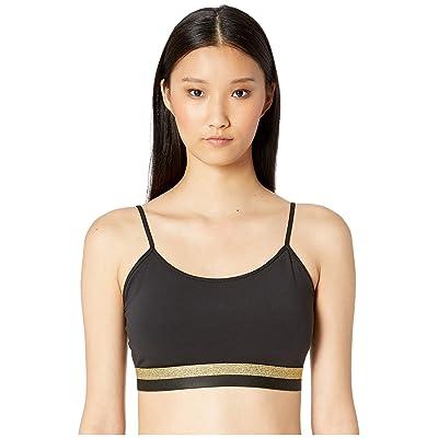 Kate Spade New York Athleisure Dashing Beauty Bi-Stripe Sports Bra (Black) Women