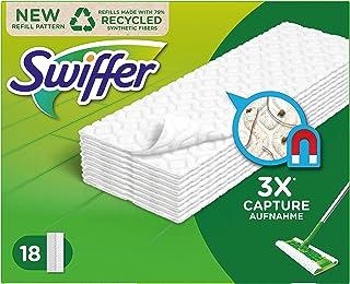 Swiffer torra golvmattor/golvtorkare påfyllningsförpackning, (1 x 18 torkar)