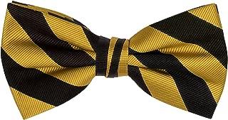 Stripe Woven Men's College Striped Pretied Bowtie