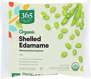365 by Whole Foods Market, Frozen Organic Vegetables, Shelled Edamame, 12 Ounce