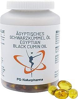 Aceite de comino negro (egipcio), nigella sativa - 1 cápsula con 500mg aceite de comino negro, 150 cápsulas, fabricado en Alemania