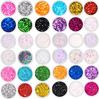 36 Boxes Nail Glitter Sequins Holographic Chunky Face Hair Body Makeup Eyes Cosmetic Glitter Powder DIY Art Craft