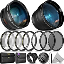 55MM Vivitar Essential Lens & Filter Accessory Kit for Nikon AF-P DX 18-55mm and Select Sony Lenses - Bundle with Wide Ang...