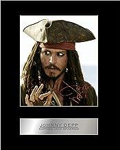Johnny Depp, Jack Sparrow firmada foto pantalla Piratas del Caribe # 1