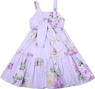 Áo quần dành cho bé gái – Vintage Valentine Girls Dress Summer Floral Kids Beach Dress Sleeveless