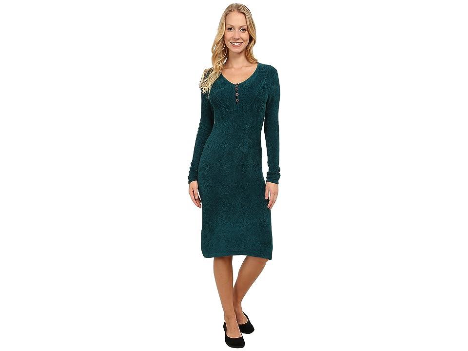Royal Robbins Voyage Long Sleeve Dress (Deep Teal) Women