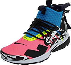 Nike Mens Air Presto Mid/Acronym Racer Pink/Black-Photo Blue Synthetic