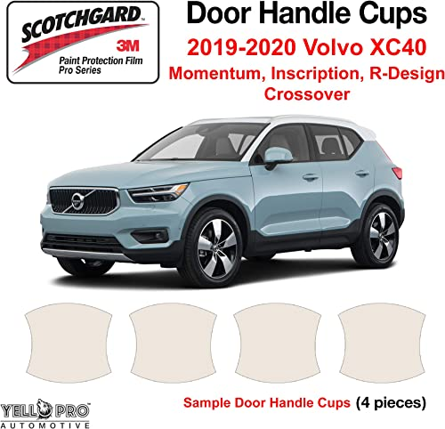 lowest YelloPro Custom Fit Door Handle Cup 3M Scotchgard Anti Scratch outlet sale Clear Bra Paint Protector Film Cover Self Healing PPF Guard Kit for 2019 2020 2021 2022 Volvo XC40 high quality Crossover outlet online sale