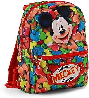 Mickey Mouse Mochila infantil reversible, 31 cm, Rojo