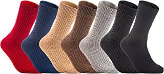 Lian LifeStyle Big Girls 4 Pairs Knitted Wool Crew Socks FS03 Size XL 7 Colors