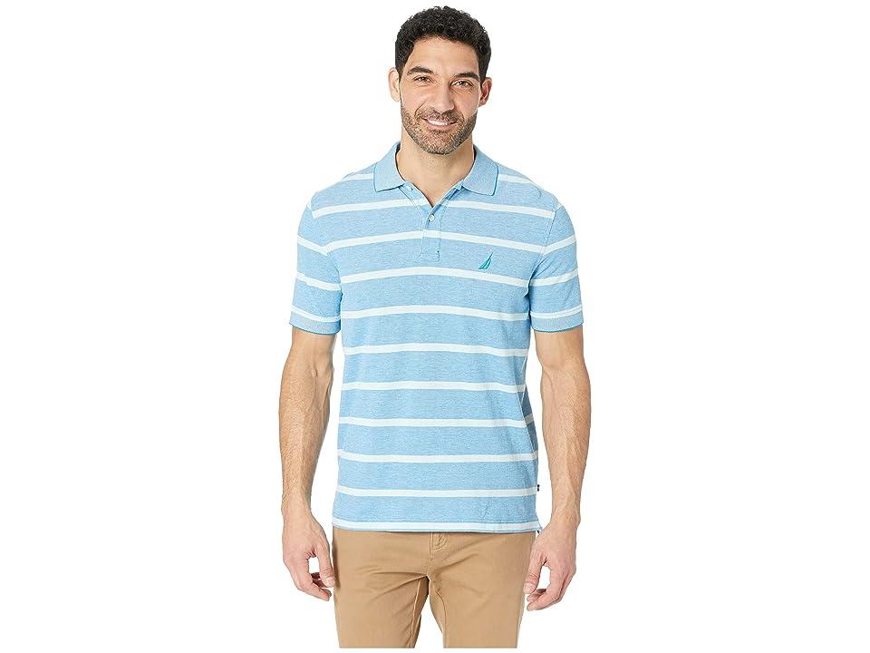 Nautica Short Sleeve Kailua Stripe Oxford Shirt (Capri Blue) Men