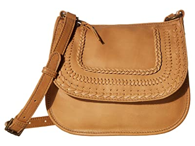 The Sak Playa Leather Saddle Bag (Scotch Braid) Handbags